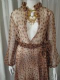 1980's Leopard print pleated chiffon vintage dress **SOLD**.